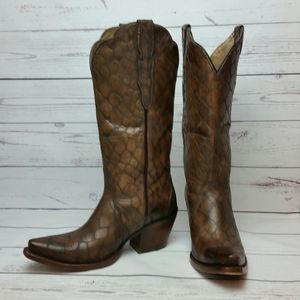 Ariat Sz 10 Antebellum Croc Print Western Boots